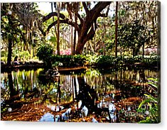 Garden Reflections Acrylic Print by Bob and Nancy Kendrick