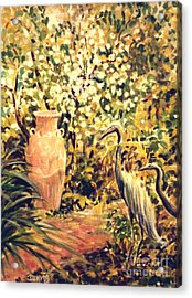 Acrylic Print featuring the painting Garden Sentinels by Dee Davis