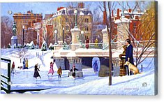 Garden Skaters Acrylic Print by Candace Lovely