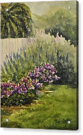 Acrylic Print featuring the painting Garden Splendor by Sandy Fisher