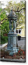 Acrylic Print featuring the photograph Garden Statuary In The French Quarter by Alys Caviness-Gober