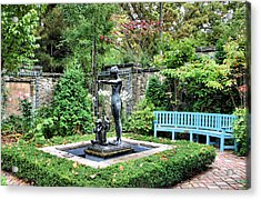 Garden Statuary Acrylic Print by Kristin Elmquist