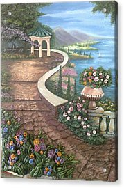 Garden View 3 Acrylic Print by Prashant Hajare