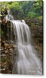 Acrylic Print featuring the photograph Garden Wall Waterfall by Johanne Peale