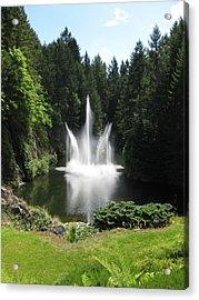 Garden Water Show Acrylic Print