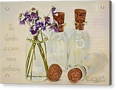 Gardening Note  Acrylic Print by Sandra Rossouw