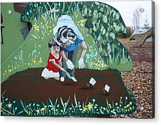 Gardening With Grandma Acrylic Print