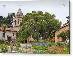Gardens Of Carmel Mission Acrylic Print by Kent Sorensen