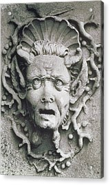 Gargoyle Acrylic Print by Simon Marsden