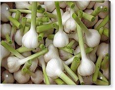 Garlic Bulbs Acrylic Print by Laurence Delderfield