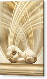 Acrylic Print featuring the digital art Garlic by Johnny Hildingsson