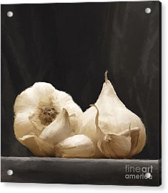 Acrylic Print featuring the digital art Garlics by Johnny Hildingsson