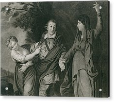 Garrick Between Tragedy And Comedy Acrylic Print by Everett