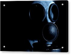 Gas Mask Acrylic Print by Neal Grundy