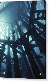 Gas Platform Support Tower Acrylic Print by Peter Scoones