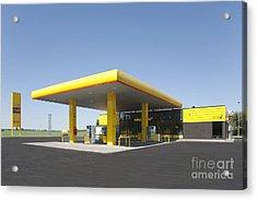 Gas Station Acrylic Print by Jaak Nilson