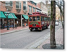 Acrylic Print featuring the digital art Gastown Street Scene by Carol Ailles