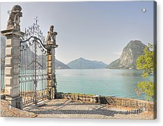 Gate On The Lake Front Acrylic Print