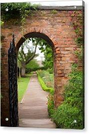 Gate To Garden Acrylic Print