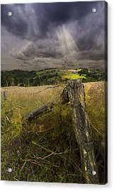 Gate To Heaven Acrylic Print by Debra and Dave Vanderlaan