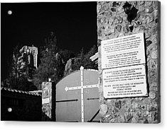 Gates Of The Stavrovouni Monastery Founded In The 4th Century By St Helena Republic Of Cyprus Europe Acrylic Print by Joe Fox