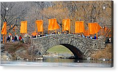 Gates Over Gapstow Bridge  Acrylic Print by Frank Winters