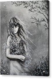 Gathering Spring Wildflowers Acrylic Print by Carla Carson