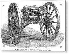 Gatling Gun, 1867 Acrylic Print by Granger