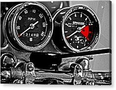 Gauging Speed Acrylic Print by Tom Gari Gallery-Three-Photography