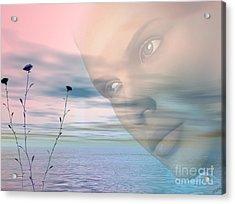 Gaze Acrylic Print by Tea Aira