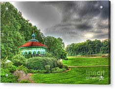 Gazebo At Eden Park Acrylic Print