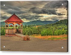 Acrylic Print featuring the photograph Gazebo In The Storm by Tyra  OBryant
