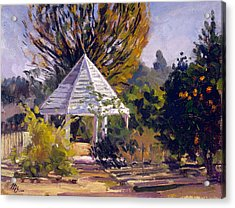 Gazebo Acrylic Print by Mark Lunde