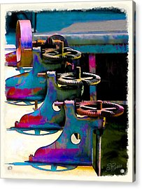 Gears Acrylic Print by Suni Roveto