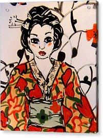 Geisha In Training Acrylic Print by Patricia Lazar