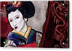 Geisha Study Acrylic Print by Lakota Phillips