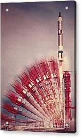 Gemini 10 Launch Acrylic Print by Science Source