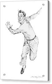 Gene Kelly Acrylic Print by David Lloyd Glover