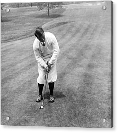 Acrylic Print featuring the photograph Gene Sarazen Playing Golf by International  Images