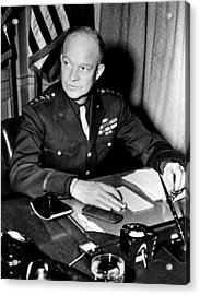 General Dwight D. Eisenhower, January Acrylic Print by Everett