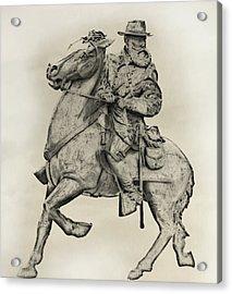 General James Longstreet Statue At Gettysburg  Acrylic Print