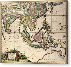 General Map Extending From India And Ceylon To Northwestern Australia By Way Of Southern Japan Acrylic Print