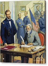 General Ulysses Grant Accepting The Surrender Of General Lee At Appomattox  Acrylic Print