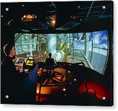 General View Of Reality Centre Simulator (oil Rig) Acrylic Print by David Parker