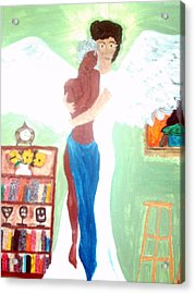Genesis 6 1 Acrylic Print by Violette L Meier