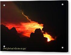 Genesis Light Acrylic Print