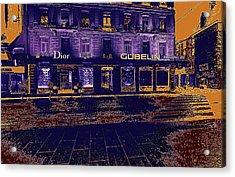 Geneva Street At Night Acrylic Print by Bimal Mehta