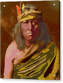 Acrylic Print featuring the mixed media Gennetoa The Renegade by Charles Shoup