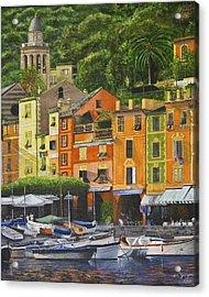 Genoa Marina Acrylic Print by Stuart B Yaeger