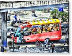 Genoa Sightseeing City Bus Acrylic Print by Enrico Pelos